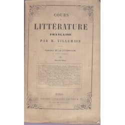 Tableau de la littérature...