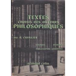 Textes choisis des auteurs...