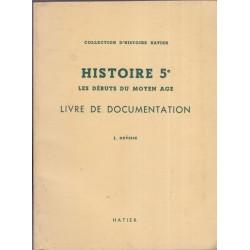 , Histoire 5e, livre de...