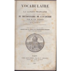 Vocabulaire de la langue...