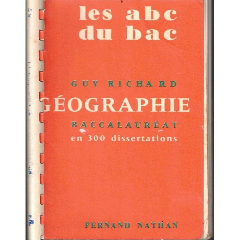 Dissertation geographie bac
