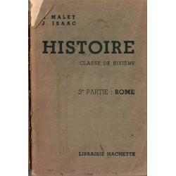 Histoire, Rome, classe de...