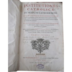 Daté de 1725, Institutiones...