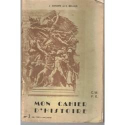 Mon cahier d'histoire cours...