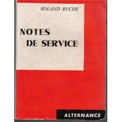 Notes de service, Roland...