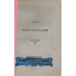 Catalogue Petit outillage,...
