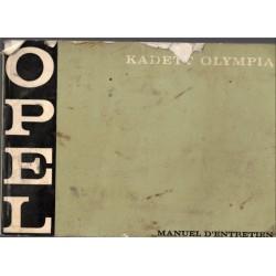 Manuel d'entretien Opel...