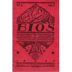 Bios n°1 1927, revue des...