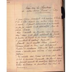 Rare manuscrit Industrie...