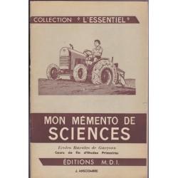Mon mémento de Sciences &...