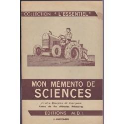 Mon mémento de Sciences,...