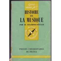 Histoire de la musique,...
