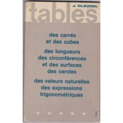 Tables des carrés et des...