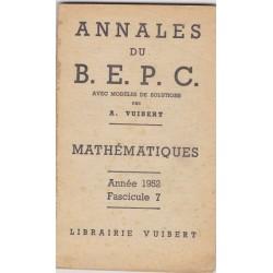 Annales Vuibert B.E.P.C....