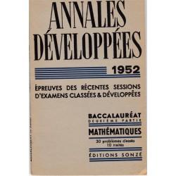 Annales développées 1952...