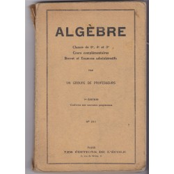 Algèbre classes de 5e 4e...