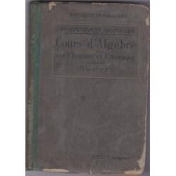 Cours d'algèbre 1937 classe...