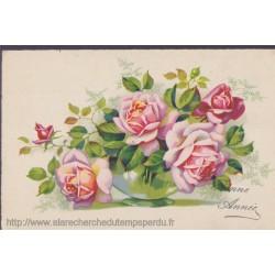 Bonne année, roses en vase...