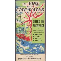 Les vins de la Côte d'Azur,...