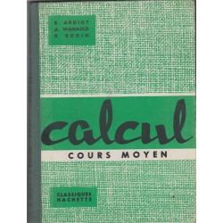 Calcul cours moyen 1960,...