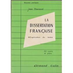 La dissertation française...