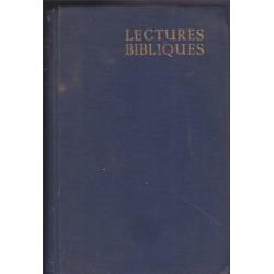 Lectures bibliques,...