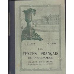 Les textes français du...