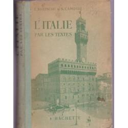 L'Italie par les textes,...
