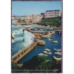 Biarritz, vue sur le port...