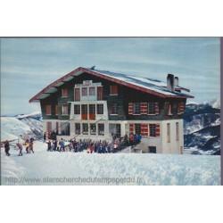 Saint-Lary, skieurs à la...