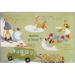 Sports d'hiver - carte...
