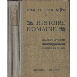 Histoire romaine, classe de...