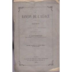 La rançon de l'Alsace,...
