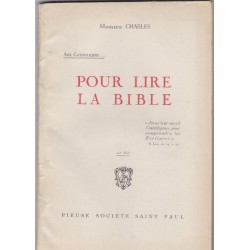 Pour lire la Bible, 1935,...