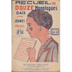 Recueil de douze monologues...