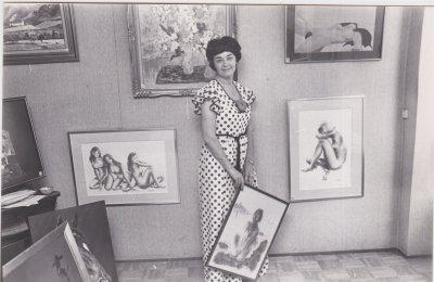 Paula Noailles EXPOSITION KARSENTY 51 BLD JARDIN EXOTIQUE MONACO JUIN 1978