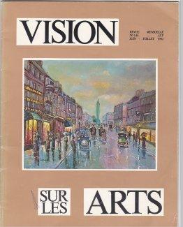 Paula Noailles artiste peintre et sculpteur crique revue Vision sur les Arts juin juillet 1982 B