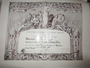 Paula Noailles Médaille de bronze de la Ville de Paris 1979