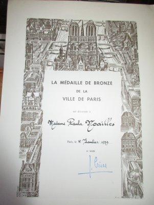 Paula Noailles distinction