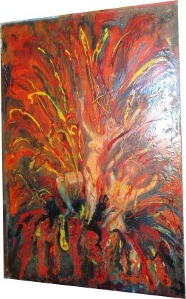 Paula Noailles huile Dans les Griffes du Démon