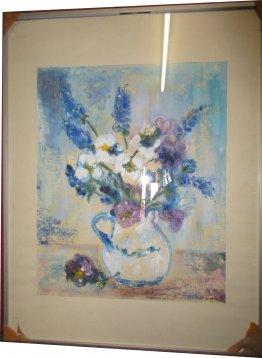 Paula Noailles bouquet de fleurs aquarelle