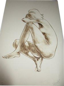 Paula Noailles lithographie Tristesse