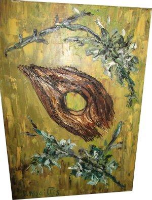 Paula Noailles peinture à l'huile l'oeil