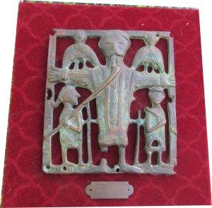 Paula Noailles sculpture en bronze Christ du XIe siècle Irlande