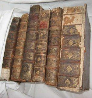 Mors apparents sur un livre ancien relié pleine peau