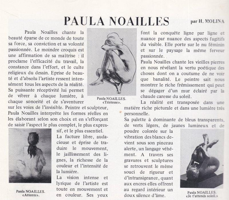 Paula Noailles artiste peintre reconnue et primée pour ses nus  féminins
